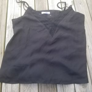 Socialite tank camisole with lace accent
